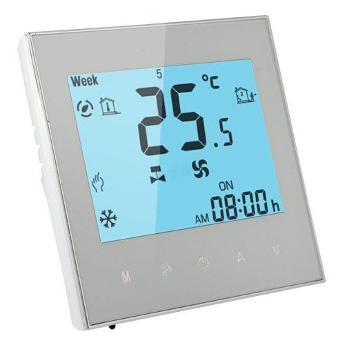 Beca™Water Heating 3A Room HVAC Touch Screen Modbus Thermostat(White ...