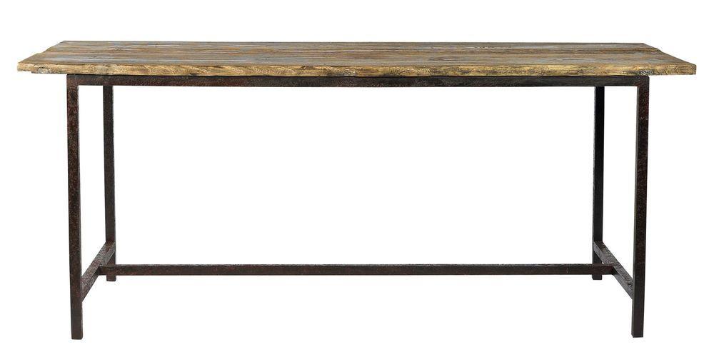 Jenny Esstisch Holz Metall Industrie Vintage Tisch Altholz