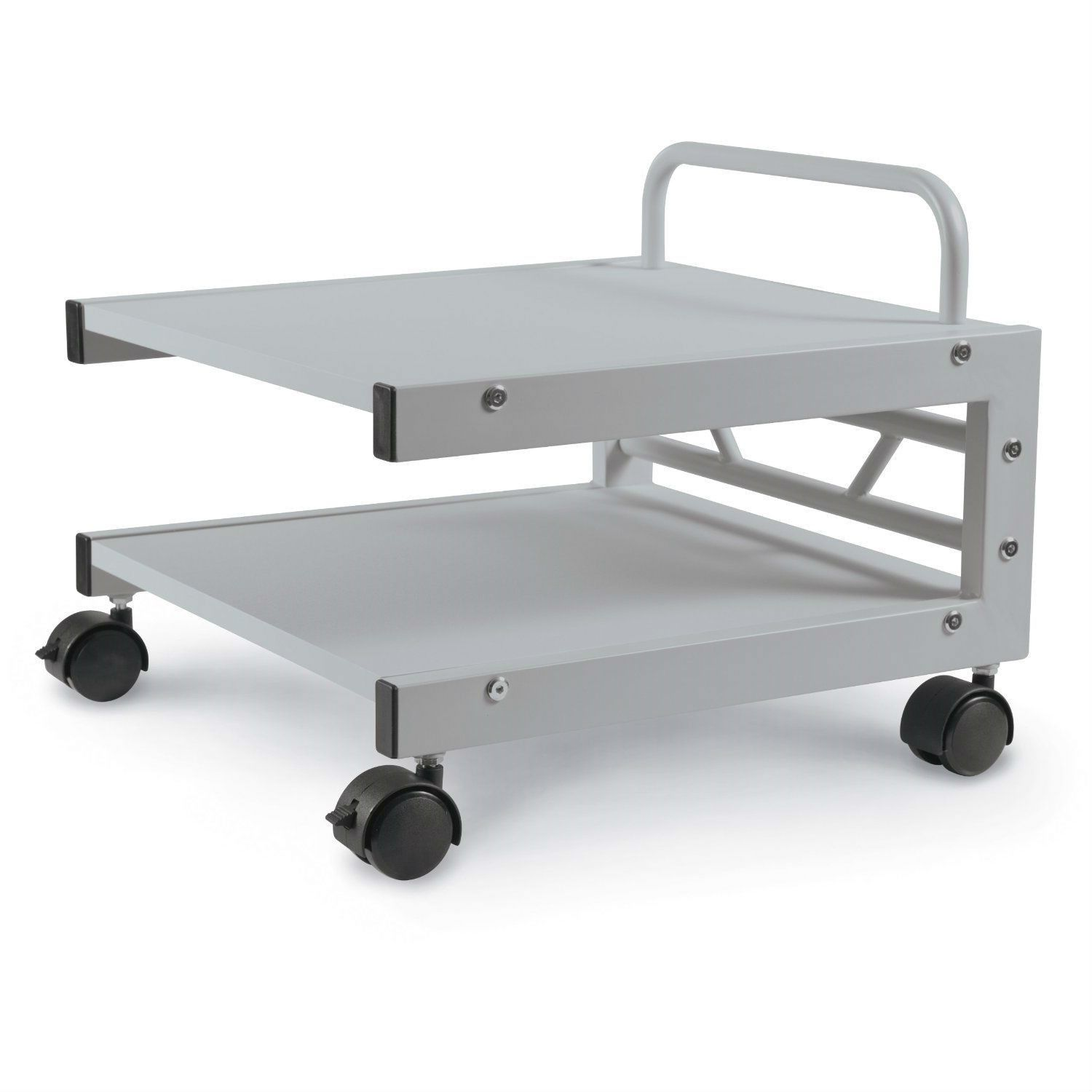 Low Profile Printer Stand with Bottom Paper Shelf and Locking ...