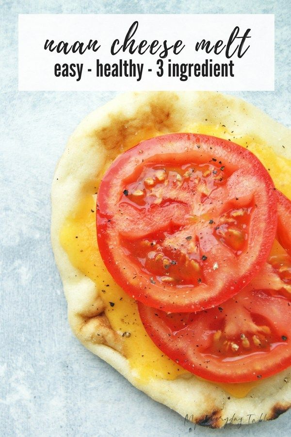 Easy Naan Cheese Melt - 5 Minute Meal images