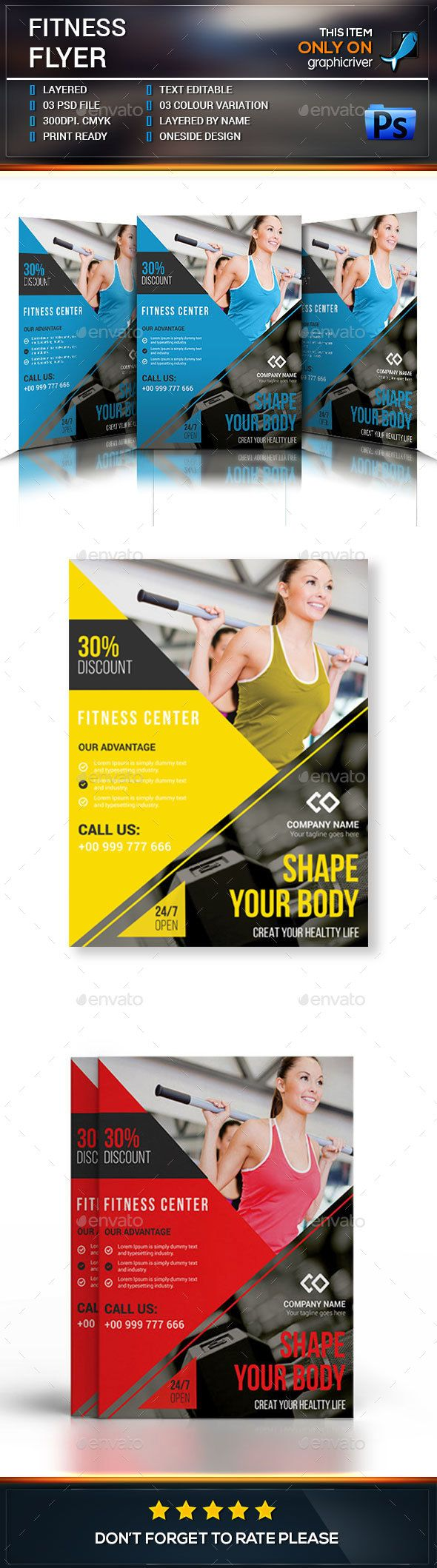 pin by maria alena on best fitness flyer template