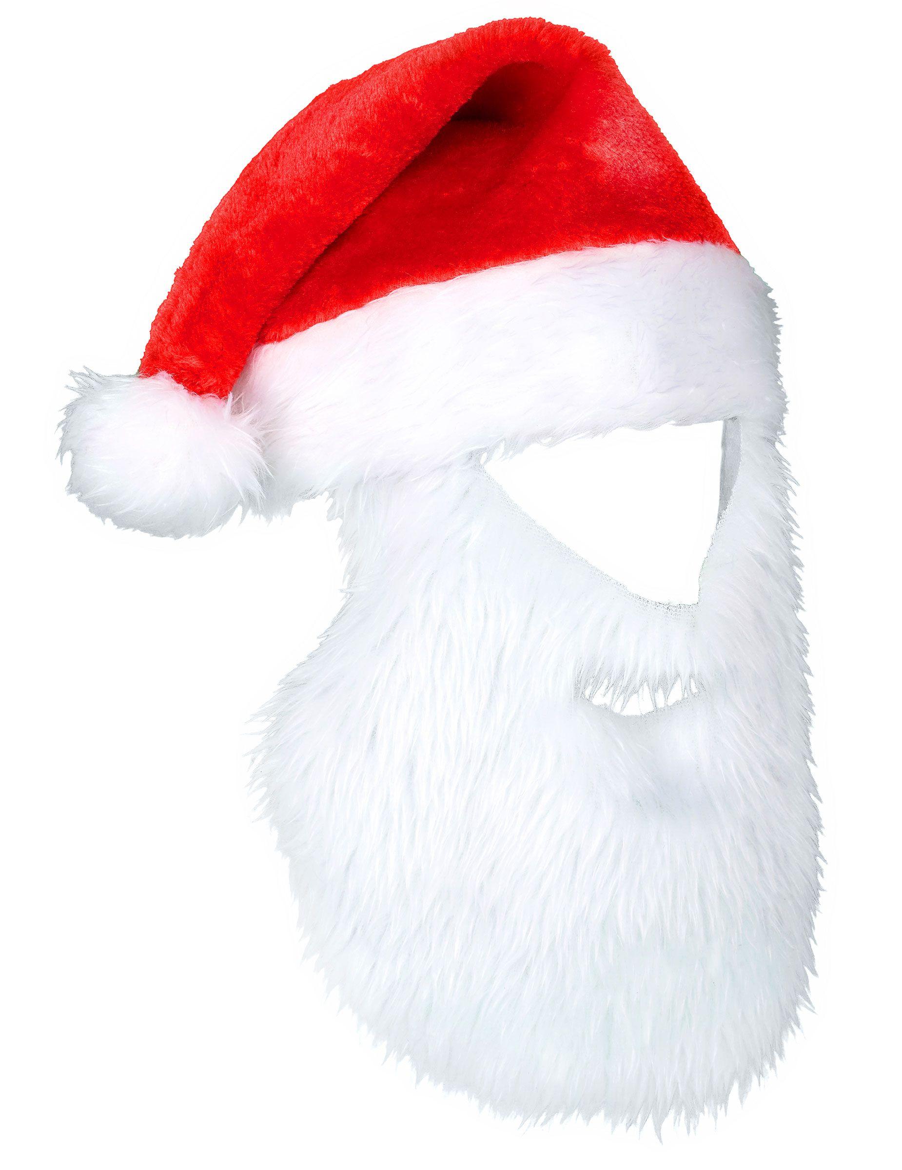 b73bbe01f4b9e Gorro Papá Noel con barba adulto Navidad  Este gorro de Navidad es de  terciopelo con