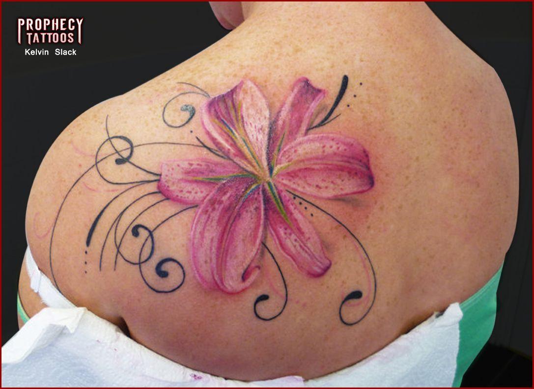 Pretty lilly love the detail tatoos pinterest flower tattoos pretty lilly love the detail feather tattoo designlily izmirmasajfo