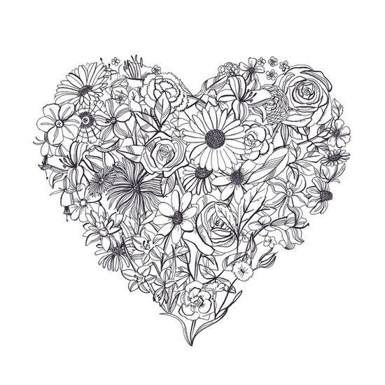 Pix For  Heart Mandalas To Color  Mandalas  Pinterest  Johanna