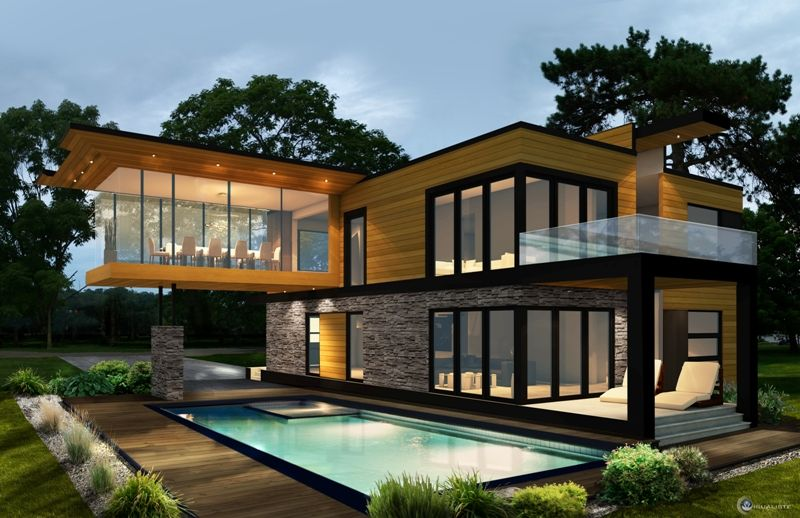 maison design exterieur - Recherche Google   villa perso ...