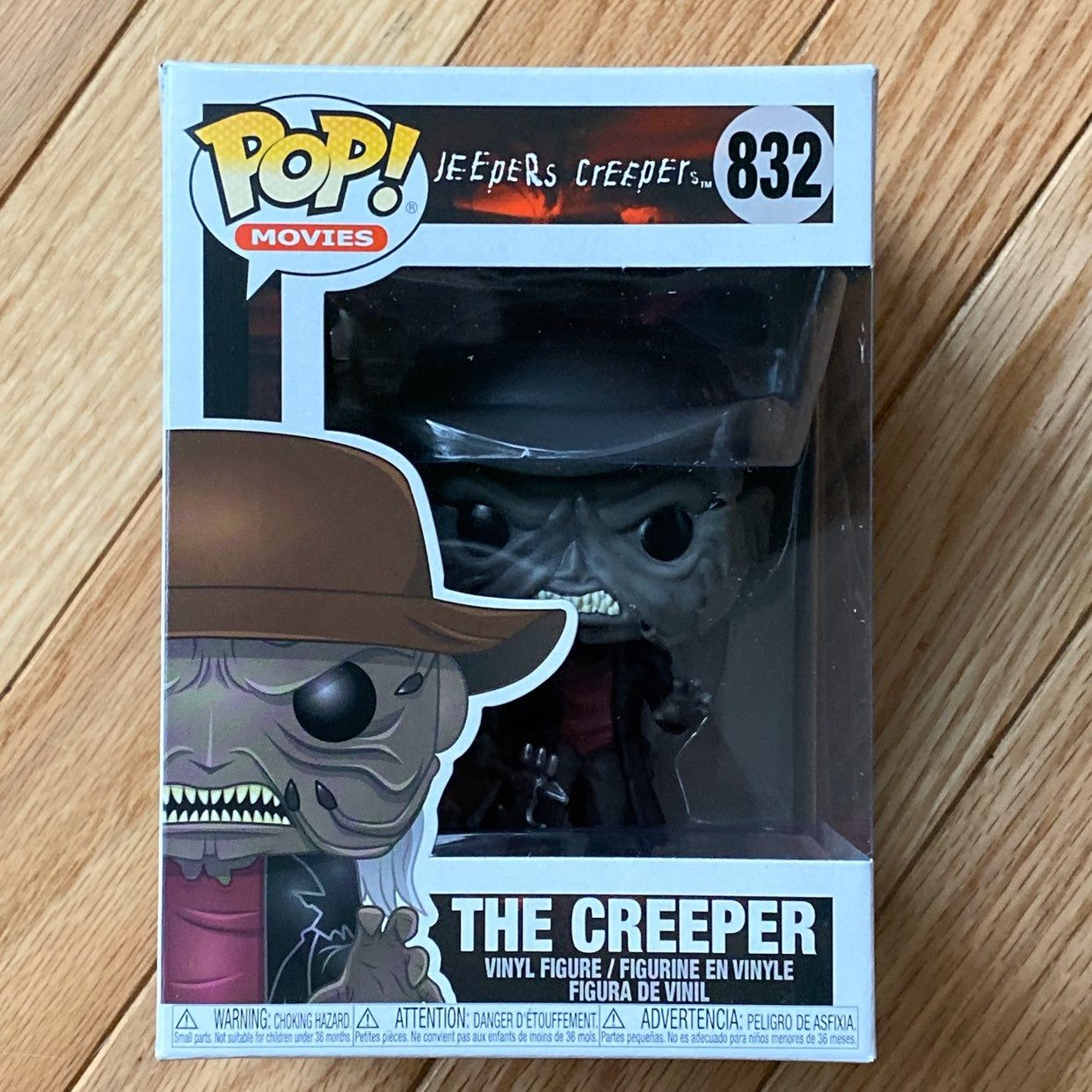 Funko Pop Movies The Creeper Damage To Box On Back Upper