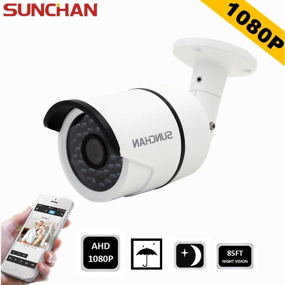 SUNCHAN 2.0Megapixel IR 1080P AHD Outdoor Night Home Security System ...