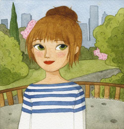Central Park :) #watercolor #illustration