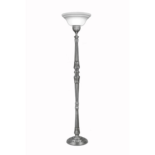 Stiffel Pewter One Light Torchiere Lamp With Frosted Glass Shade Tch Ac8697 6719 Pw Bellacor Glass Shades Torchiere Lamp Frosted Glass