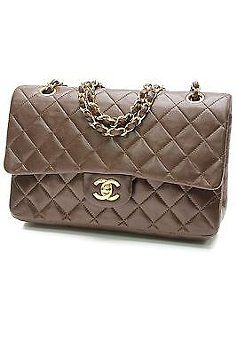 a9b44b773908 Authentic Pre-Owned Chanel Vintage Brown Quilted Lambskin Classic Medium  Double Flap Bag in Gently Used Condition. Free Ground Shipping and Layaway  ...