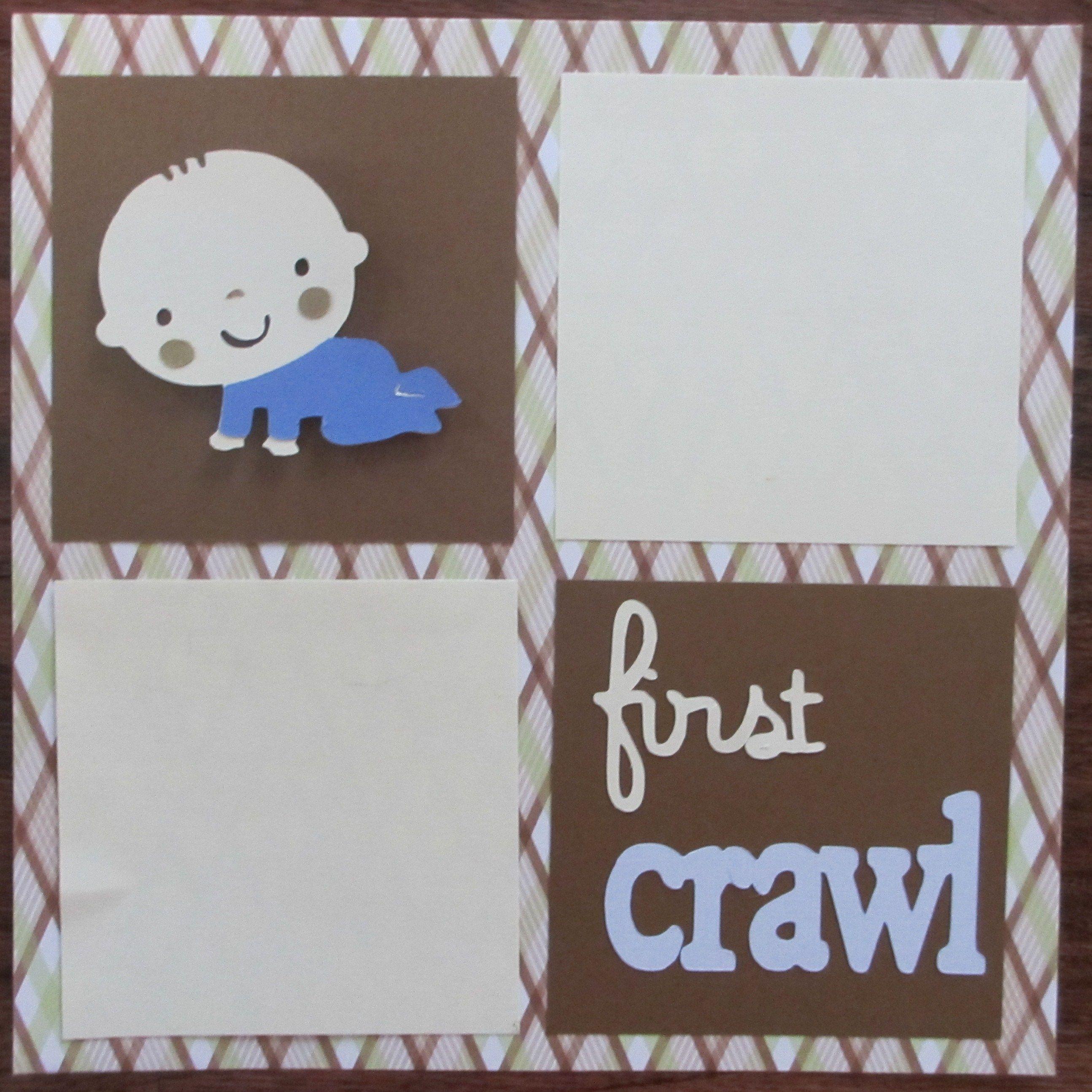 Scrapbook ideas baby milestones - Baby Boy Scrapbook Page