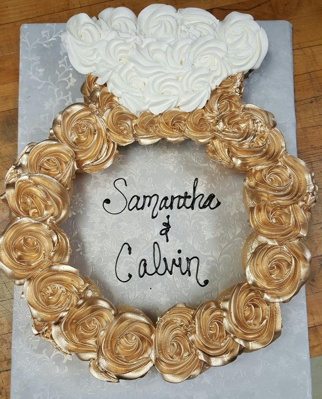 Wedding Engagement Images: Engagement Ring Cupcake Cake