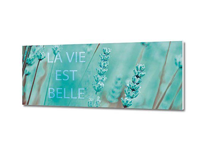 graz-design Wandbild mit Spruch La Vie Est Belle Exklusives