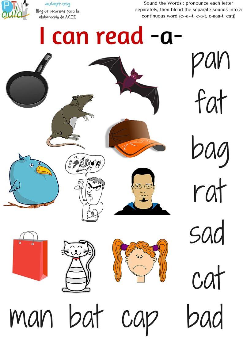 Matching Worksheets: I can read a. | Lecto escritura | Worksheets ...