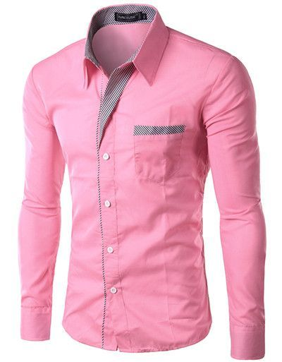 dress fashion quality long sleeve shirt men designformal