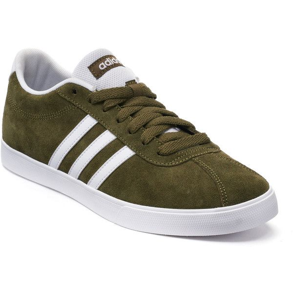 Adidas NEO Courtset Women's Suede Sneakers ($22) ❤ liked on