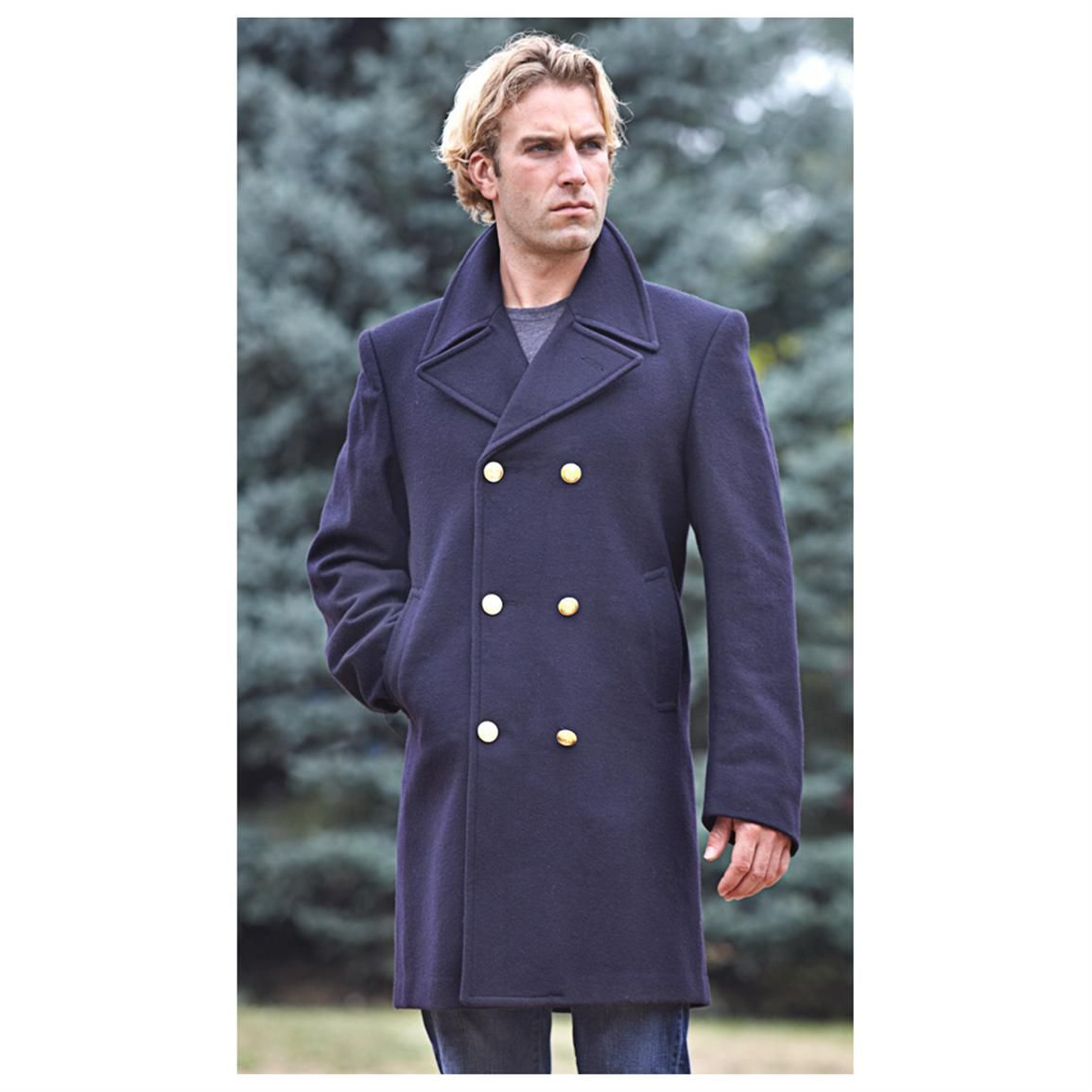 New Italian Military Surplus Navy Dress Peacoat | Clothes I Like ...