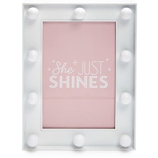 Forever 21 Marquee Light Picture Frame White (€4,79) ❤ liked on ...