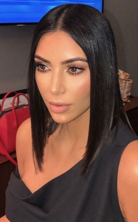 Pin By Flawless On Makeup Kim Kardashian Hair Kim
