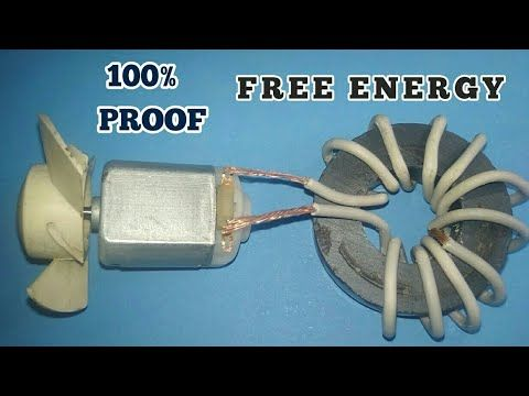 Free energy device with magnets used DC motor fan 100% ...