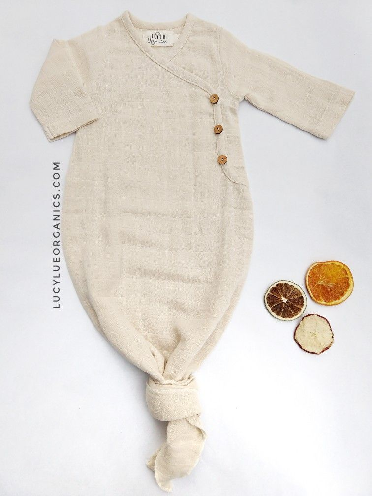 Photo of Lucy Lue Kimono Knotted Baby Gown