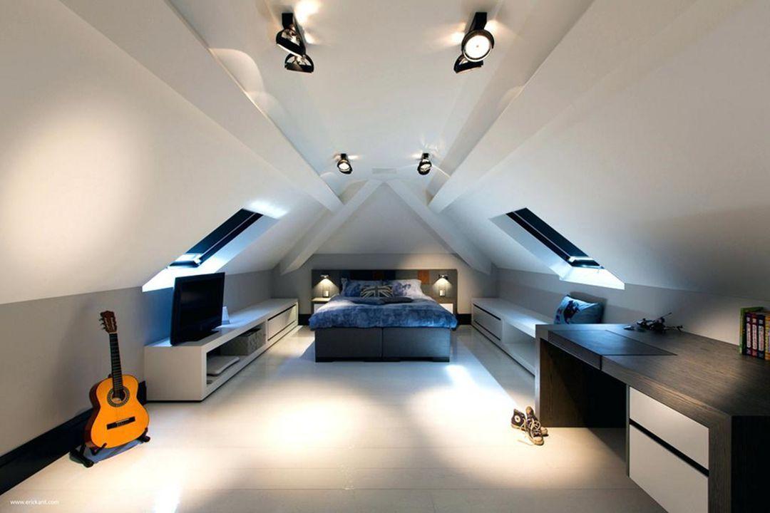 35 Stunning Attic Bedroom Design Ideas That Will Make You More Comfort Dexorate Attic Bedroom Designs Loft Room Attic Design