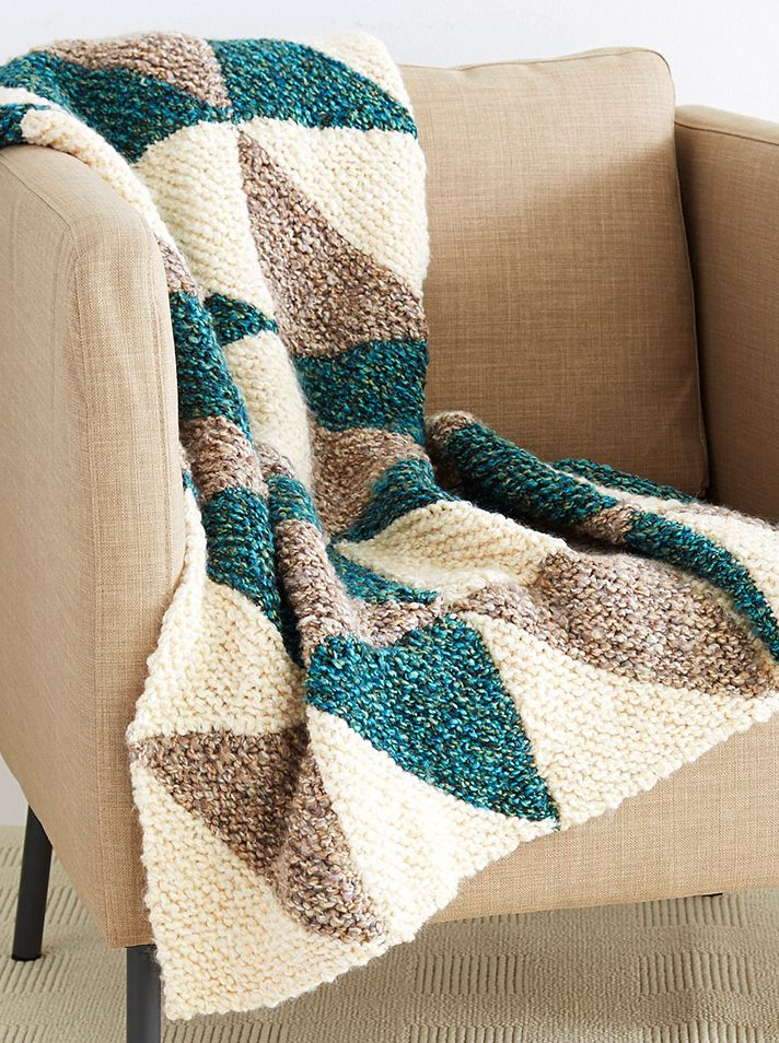 Free Knitting Pattern for Shadow Squares Afghan - #ad Easy ...