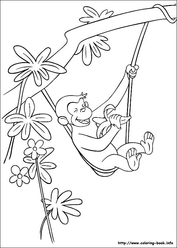 Curious George Coloring Picture Coloring And Activities