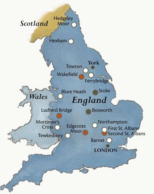 Map Of England Lancaster.Wars Of The Roses Fought In Medieval England 1455 1485 Between House