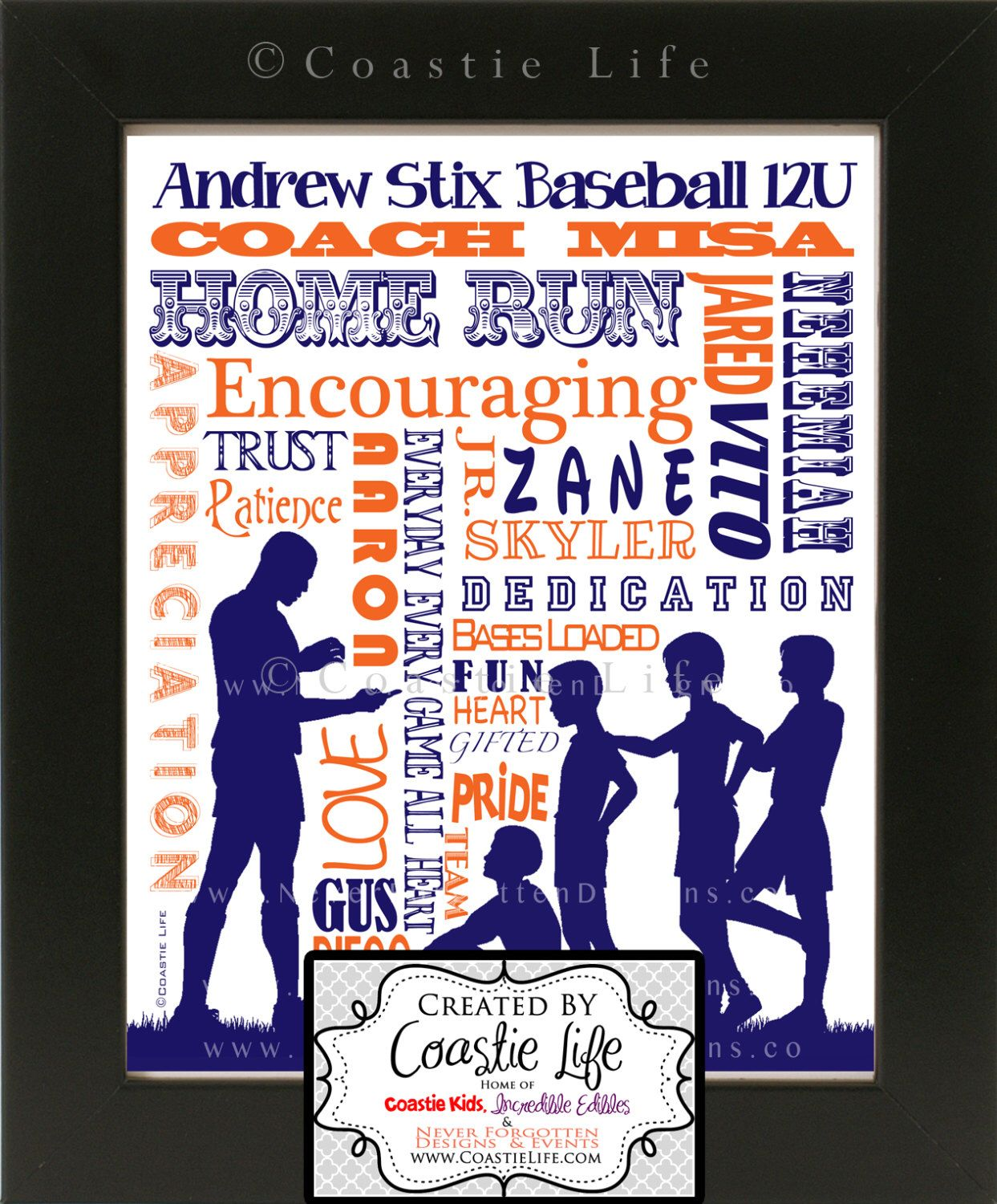 Customized Word Art For Football Rugby Baseball Soccer Coach Great Gift For End Of Season From The Tea Coach Gifts Coaching Youth Sports Football Coach Gifts