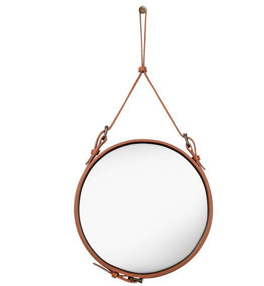 Espejo Circular Adnet S   Material :Cuero y Espejo... Desde Eur:564 / $750.12