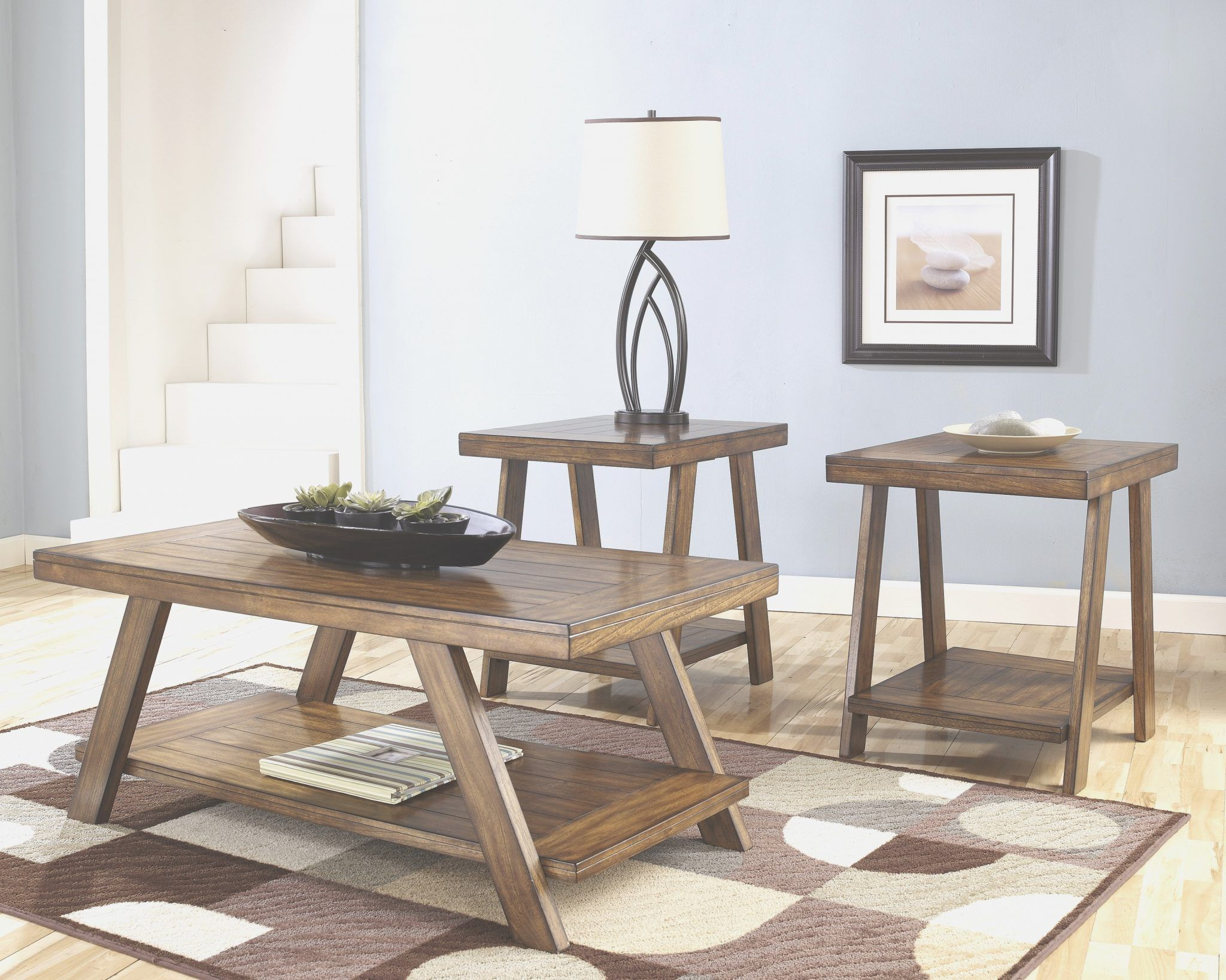 3 Piece Table Set for Living Room - 3 piece living room glass table ...