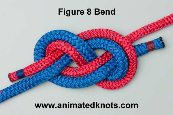 Animation: Figure 8 Bend (Flemish Bend) Tying (Rescue)