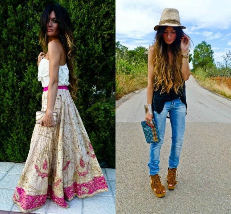 La mode hippie chic 50 id es t automne de style boh me - Tenue hippie chic femme ...