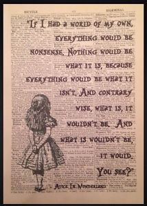 Alice-in-Wonderland-Quote-Print-Vintage-Dictionary-Picture-Wall-Art-Nonsense