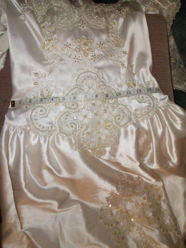 fetish Satin wedding pictures dress
