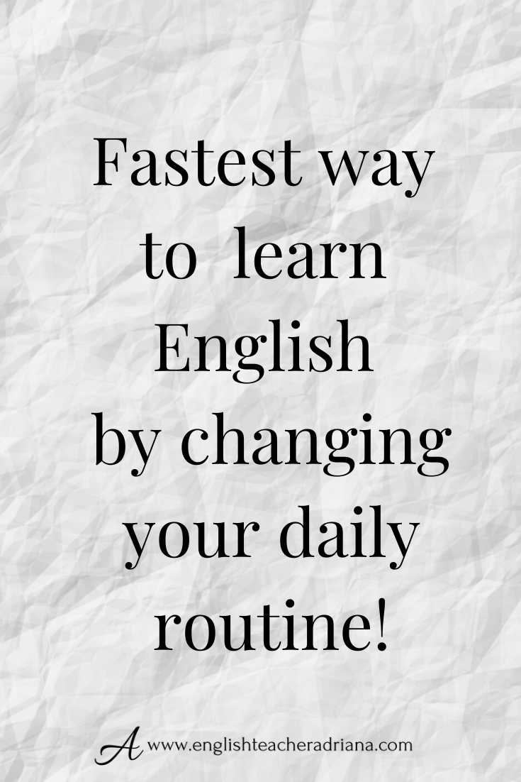 Fast Advanced English Conversation to learn Daily Routine