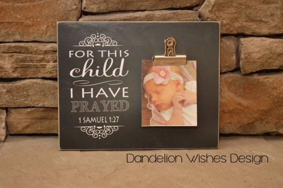 For This Child I Have Prayed Photo Frame, Baby Gift, Pregnancy ...