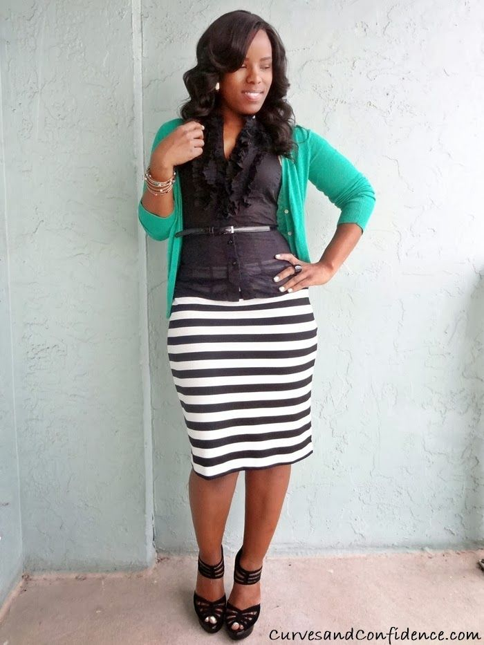 Work It!: Striped Pencil Skirt | The office, Miami and Curves and ...