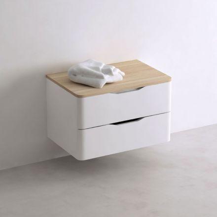 meuble de rangement en bois quip de 2 tiroirs en laqu. Black Bedroom Furniture Sets. Home Design Ideas