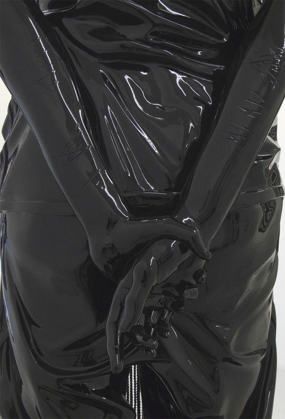 Black plastic back