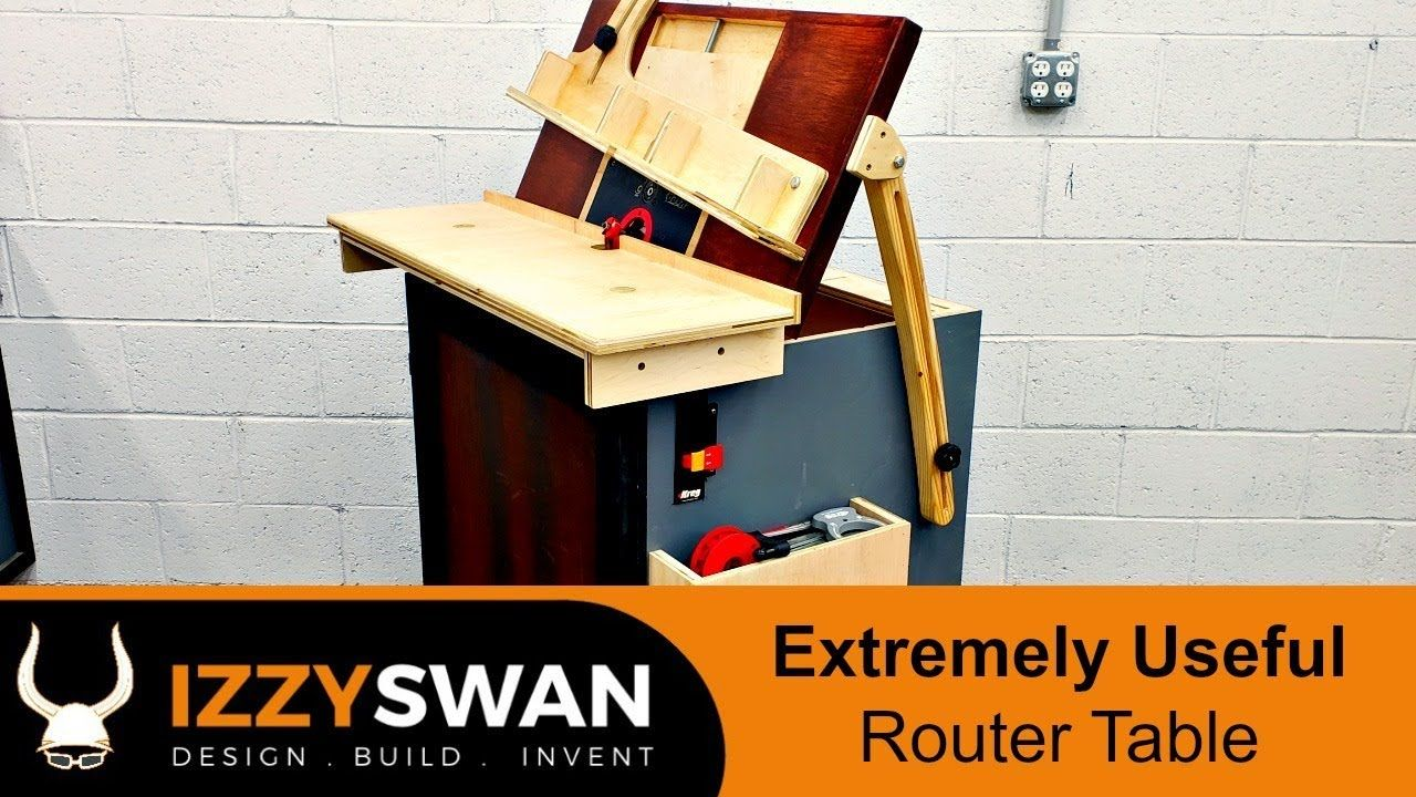 Extreme Router Table Build How To Woodworking Youtube Diy Router Table Router Table Build A Router Table