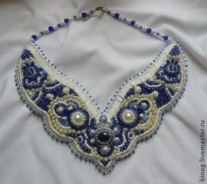 """Coliere, margele lucrate manual. Colier """"Blue Lace"""". Valery Fomin. Magazin online de masterat corecte. Ornamentație cu mărgele"""