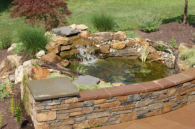We Could Turn The Old Hot Tub Area Into A Pond Fountain With