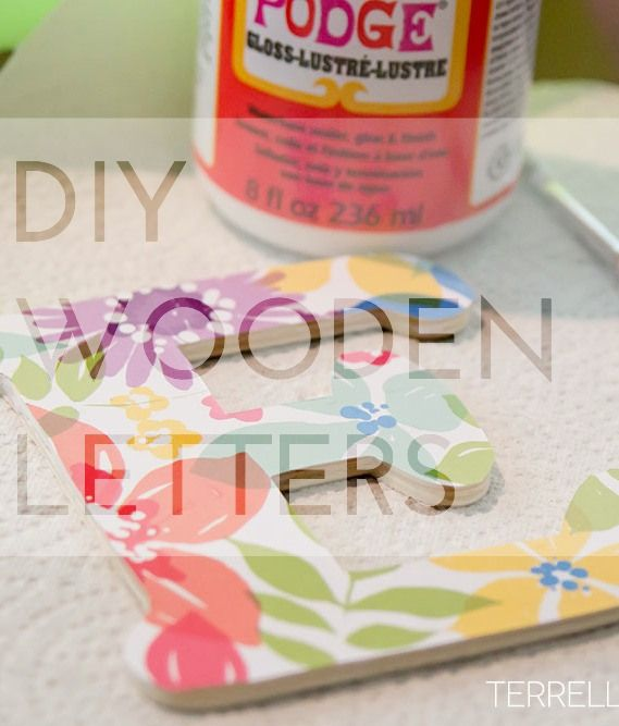 How To Make Scrapbook Paper Wooden Letters  Scrapbook Paper
