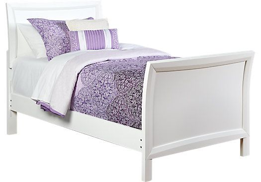 Ivy League White 3 Pc Twin Sleigh Bed | Twin sleigh bed, Bed ...