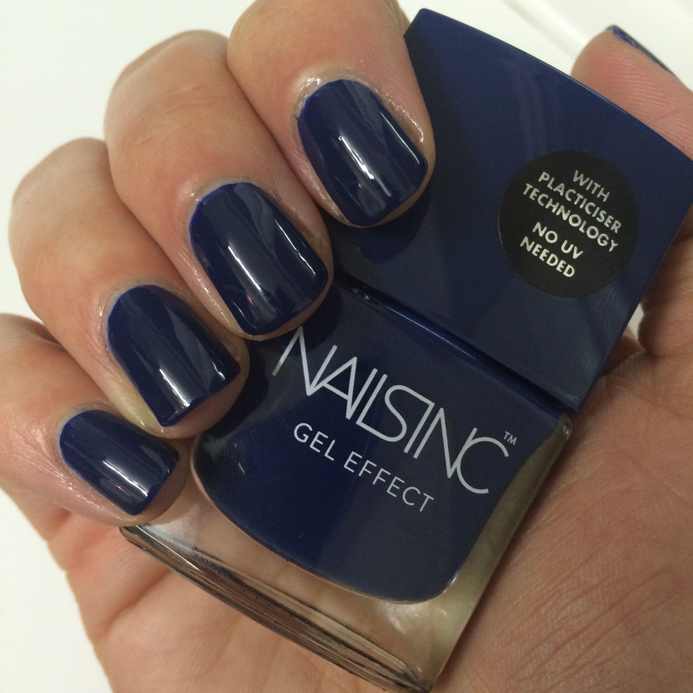 Nails inc gel nail colors and gel nail polish on pinterest - Manicure Old Burlington Street Gel Effect Polish My Nails Inc Stunning Navy Blue Www Nailtheday