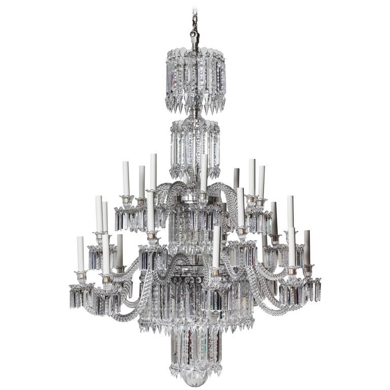 19th Century Baccarat Crystal Chandelier - 19th Century Baccarat Crystal Chandelier Pendant Lighting