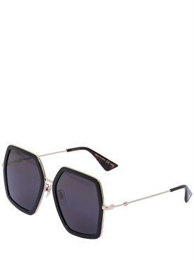 52fd6a05430 gucci - women - sunglasses - oversized octagon sunglasses