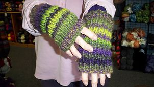 "Handwarmers Two (8 1/2"" long)   by AnnaLu Coco-Gorr"